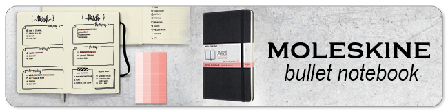 Moleskine bullet notebook