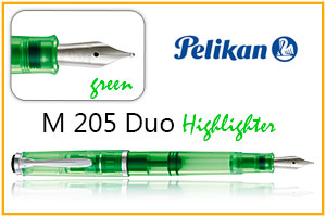 Pelikan 205 duo resaltado green
