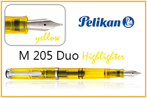 Pelikan 205 duo resaltador yellow