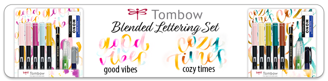 Tombow Blended lettering set