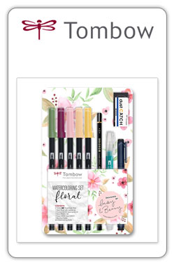 Tombow Watercoloring Floral