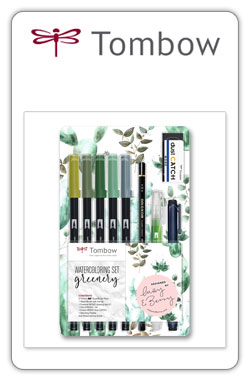 Tombow Watercoloring Greenery