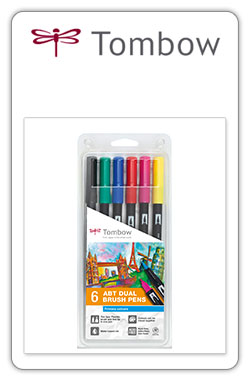 Tombow ABT  Pack ABT 6-1 -set de 6 colores primarios