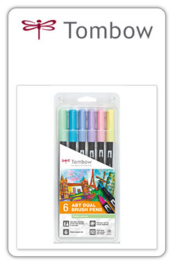 Tombow ABT  Pack ABT 6-2-set 6 colores pastel