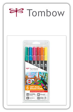 Tombow ABT Pack ABT 6-3 -set 6 colores dermatológicamente testados