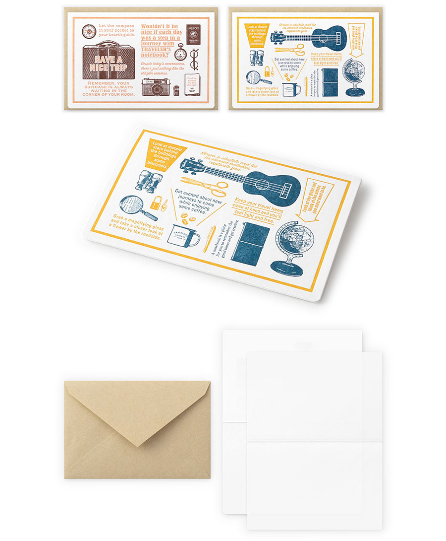 Letterpress Card Travel Tools Traveler's Company