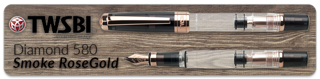 Twsbi Diamond 580 Smoke Rose Gold